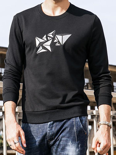 Men Embroidered Sweatshirt