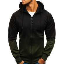 Load image into Gallery viewer, Men Zipper Printing Hoodie Sweatshirt
