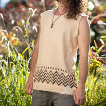 Load image into Gallery viewer, Men Tropical Printed Frayed Vest Top
