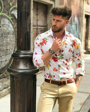 Load image into Gallery viewer, Men Spring Fashion Floral Printed Shirt