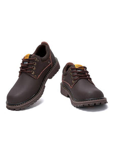 Solid Lace-up Soft Casual Boot Shoes