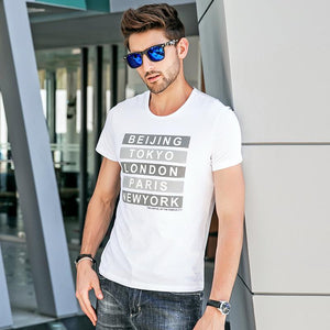 Men Round Neck Printed T-Shirt