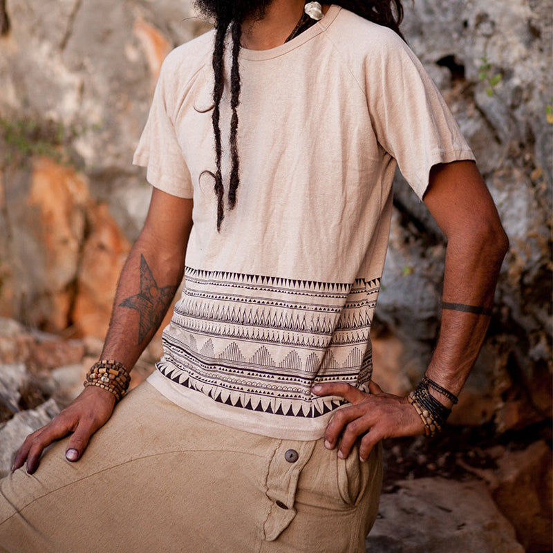 Men Tribal Print T-Shirt