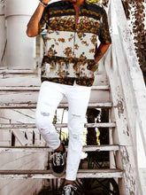 Load image into Gallery viewer, Men Floral Printing Short Sleeve Shirt