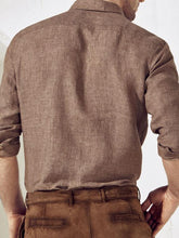 Load image into Gallery viewer, Men Solid Pocket Long Sleeves Shirt