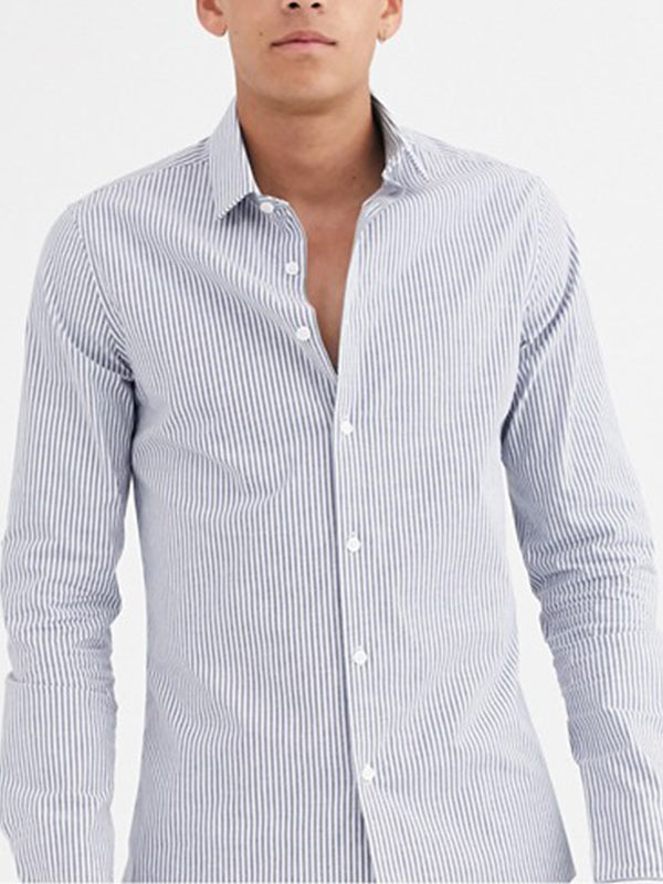 Men Casual Lapel Blouse Shirt