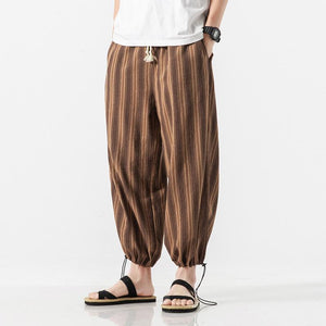 Men Casual Striped Harem Pant