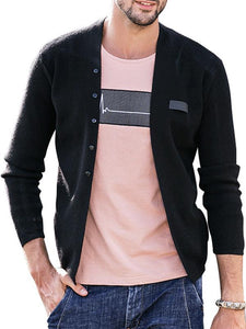 Men Knitted Sweater Cardigan