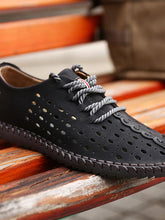 Load image into Gallery viewer, Men Breathable Lace-up Flat Loafer Shoes