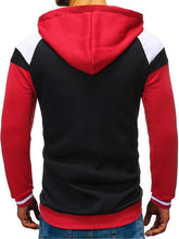 Load image into Gallery viewer, Men Lace-Up Color Block Hoodie Seatshirt