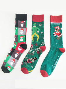 5Pairs Christmas Breathable Cotton Socks(For US Size-11)