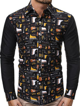 Load image into Gallery viewer, Men Printing Long Sleeve Shirt