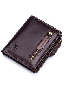 Solid Zipper Multi-Layer Pocket Fashion Wallet