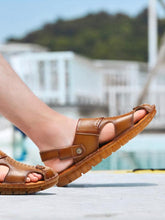 Load image into Gallery viewer, Solid Hollow Outdoor Beach Sandal Shoes