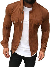 Load image into Gallery viewer, Men Fashion Pure Color Jacket