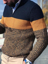 Load image into Gallery viewer, Business Men Color Block Sweater Jumper
