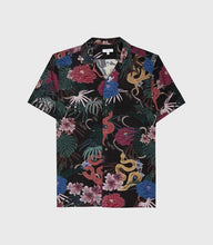 Load image into Gallery viewer, Men Lapel Tropical Printed Shirt