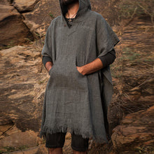 Load image into Gallery viewer, Men Solid Frayed Hoodie Cloak