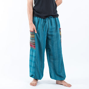 Men Drawstring Pinstripes Pocket Pants