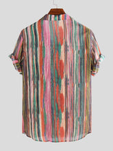 Load image into Gallery viewer, Mens Simple Striped Blouses&Shirts