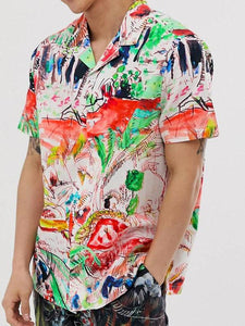 Men Graffiti Print Shirt