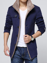 Load image into Gallery viewer, Men Stand Collar Cardigan Coat