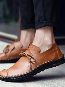 Men Casual Lace-up Comfortable Flat Shoes
