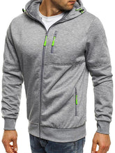 Load image into Gallery viewer, Men Sport Zipper Hoodie Sweatshirt