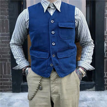 Load image into Gallery viewer, Men Traditional Herringbone Waistcoat