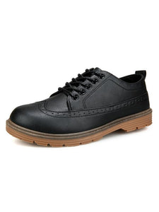 Men Hollow Lace-up Casual Fashion Flat Shoes