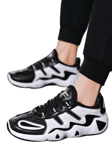 Men Fashion Breathable Lace-Up Casual Athletic Shoes Sneakers