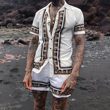 Load image into Gallery viewer, Men Ethnic Printed Holiday Two-Piece Suits