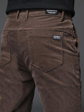Load image into Gallery viewer, Winter Men Corduroy Straight Leg Pant