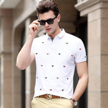 Load image into Gallery viewer, Men Embroidered Polo Short Sleeves Shirt