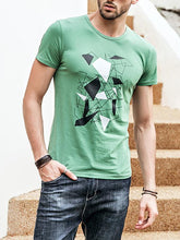 Load image into Gallery viewer, Men Basic Round Neck T-Shirt