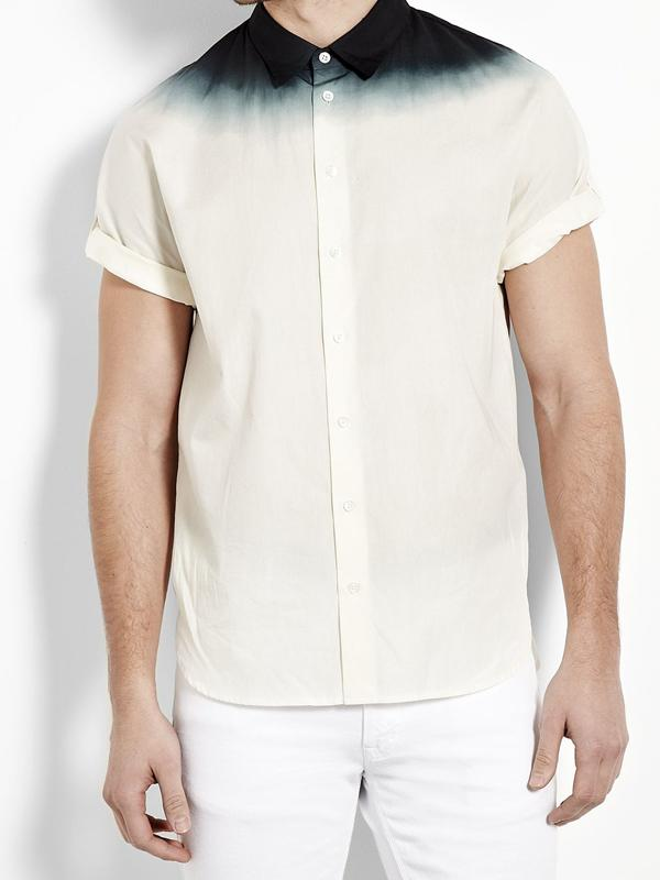 Men Simple Short Sleeves Shirt