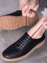 Load image into Gallery viewer, Men Casual Lace-up Leather Flat Shoes