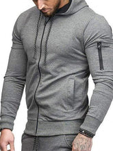 Load image into Gallery viewer, Men Cotton Hoodie Zip Up Sweatshirt