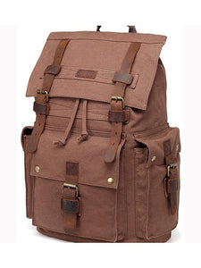 18in Canvas Buckles Laptop Day Pack