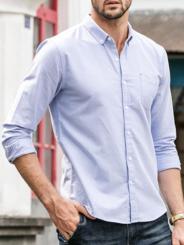 Men Long Sleeves Business Casual Shirt
