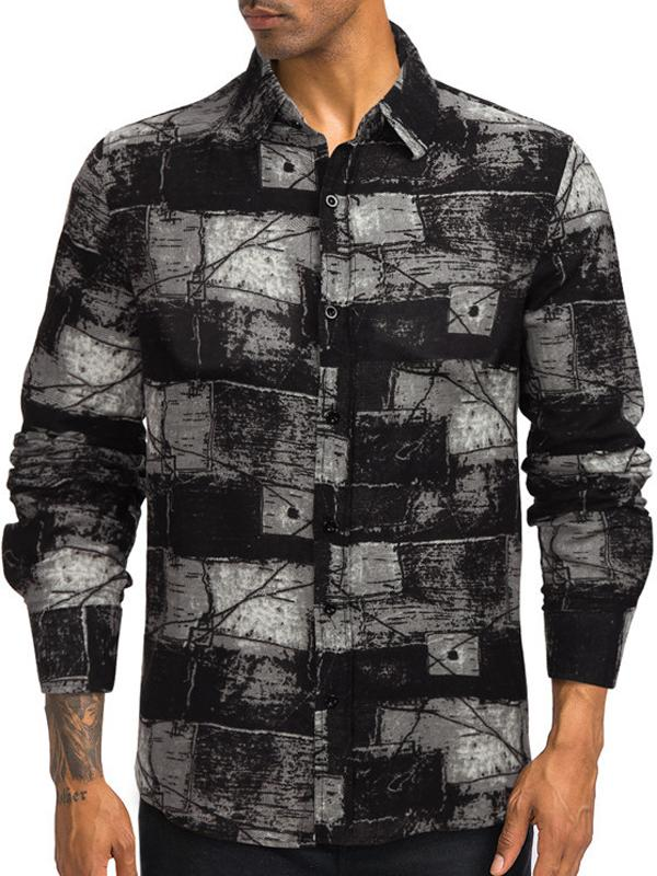 Men Tie-Dye Long Sleeve Shirt