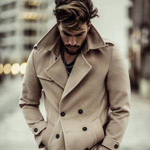 Men Vintage Double Breasted Coat