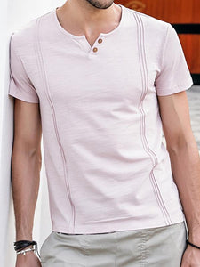 Men V-Neck Casual Tee
