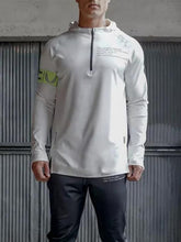 Load image into Gallery viewer, Men Zipper Collar Hoodie Sweatshirt