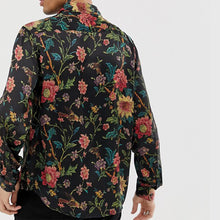 Load image into Gallery viewer, Men Floral Printed Blouses&Shirt Tops