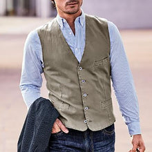 Load image into Gallery viewer, Men Solid Single Breasted Casual Waistcoat