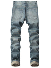 Load image into Gallery viewer, Men Casual Classic Distressed Ripped Destroyed Column Jeans