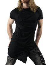 Load image into Gallery viewer, Men Asymmetric Short Sleeves T-Shirt