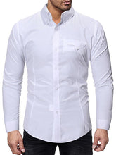 Load image into Gallery viewer, Mens Long Sleeves Solid Casual Blouses&shirts