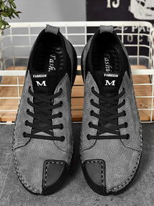 Men Casual Lace-up Flat Shoes